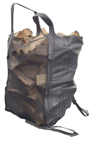 The Dry'n'Turn is a one cord firewood big-bag with bottom handles