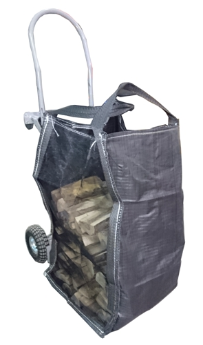 Small-bag firewood seasoning and delivery bag