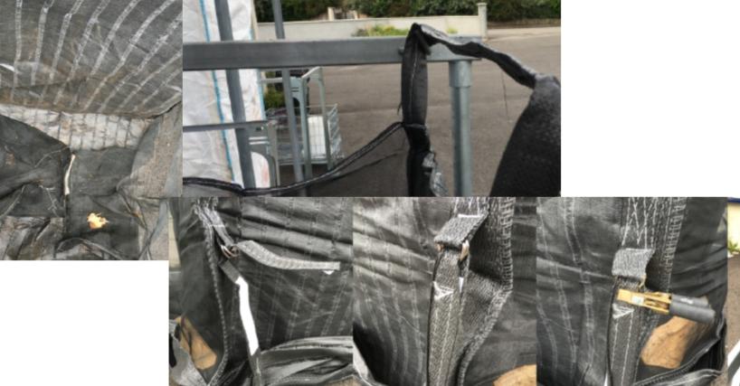Mécanisme de fermeture du fond - Tout le fond est tenu par deux Velcro