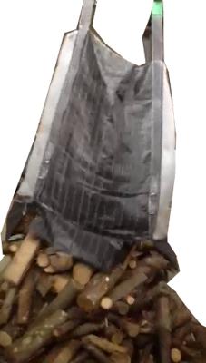 La poche à bois de chauffage Open-bottom permet des livraisons rapides