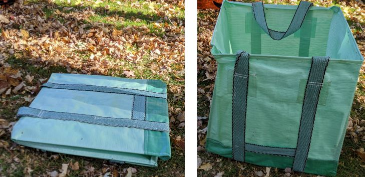 Folded and unfolded Garden-Bag